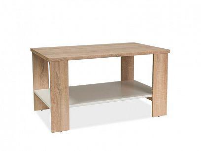 Sany konferenční stolek, dub sonoma/bílá