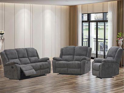 KORFU NEW Relaxační sedací souprava 3+2+1, hnědobéžová
