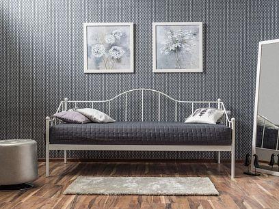 Dover kovová postel 90, bílá