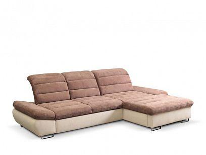 ROMANTIKA KLASIK 3FBL-OSBP rohová sedací souprava, levá, hnědá/béžová