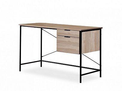 Brooklin psací stůl, dub/černý kov