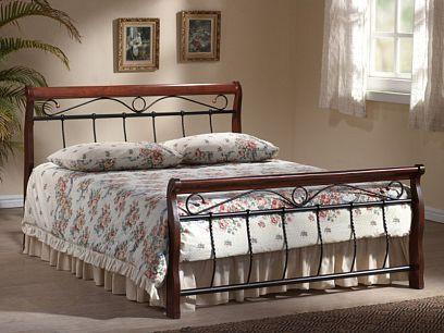 VENECIA postel 140, antická třešeň/černá