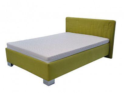 Donatela čalouněná postel 140, limetková