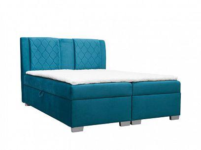 KELLY čalouněná postel 180, tyrkysová