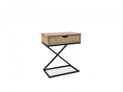 LEON I konferenční stolek, dub/černá