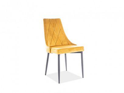 TRIX B VELVET jídelní židle, žlutá