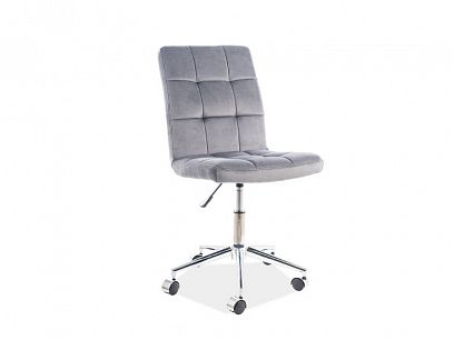 Q-020 VELVET kancelářská židle, šedá