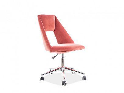 PAX Velvet kancelářská židle, starorůžová
