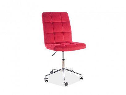 Q-020 VELVET kancelářská židle, bordó