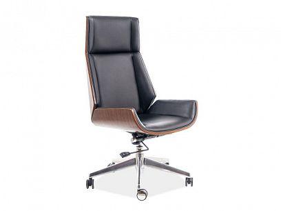 MARYLAND kancelářská židle, černá/ořech