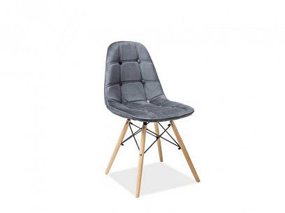 AXEL III jídelní židle, šedá/buk