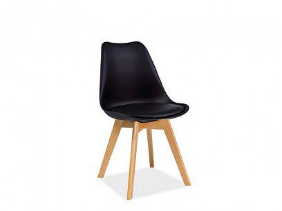 KRIS BUK jídelní židle, černá