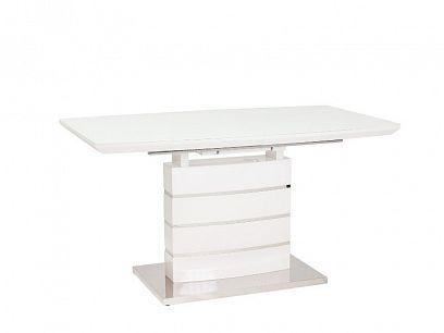 LEONARDO 1 rozkládací jídelní stůl, bílá lesk