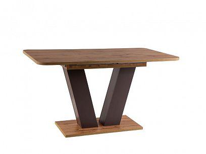 PLATON rozkládací jídelní stůl, dub wotan/hnědá