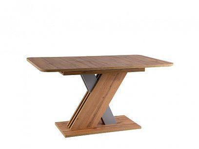 EXEL rozkládací jídelní stůl, dub wotan/šedá