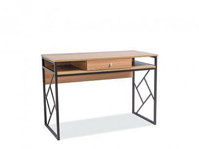 PABLO B psací stůl, dub/tmavě hnědá