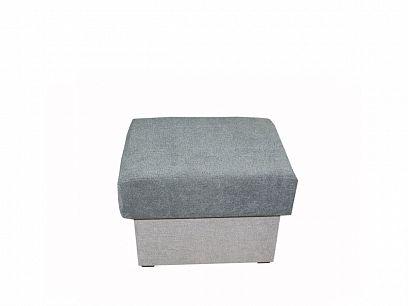 ALASKA taburet, šedá/tmavě šedá