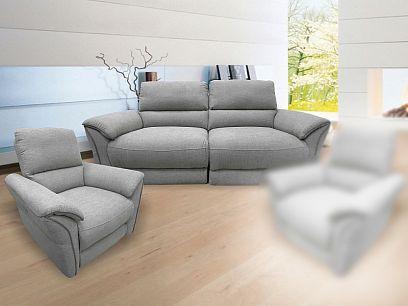 MACAU relaxační sedací souprava 3+1, světle šedá