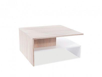 LINDA konferenční stolek, dub sonoma/bílá