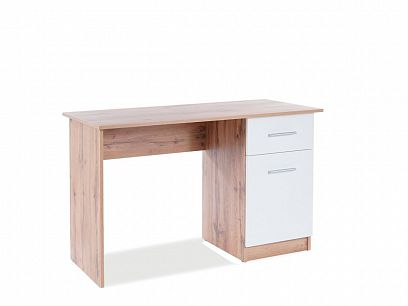 BARBORA 2 psací stůl, dub wotan/bílá