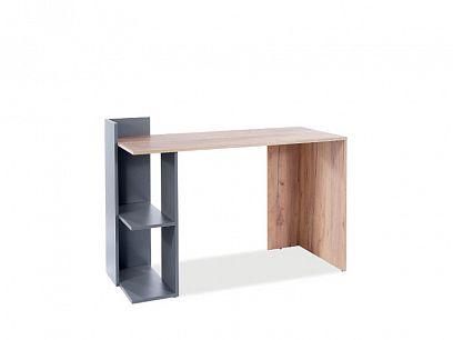 BARBORA 1 psací stůl, dub wotan/šedá