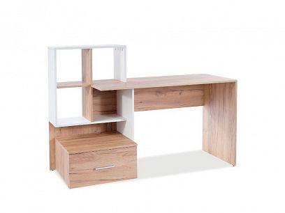 BARBORA 3 psací stůl, dub wotan/bílá