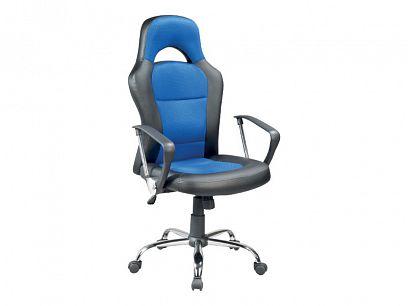 Q-033 kancelářské křeslo, černá/modrá