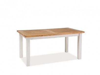 PROVANCE NEW jídelní stůl, dub medový/borovice bílá patina