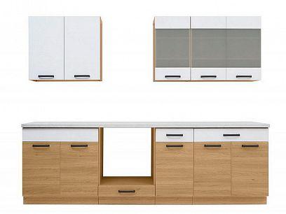 Kuchyň Semi Line 260OK, dub Reveal/bílá Arktická