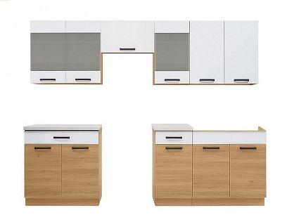Kuchyň Semi Line 260/OK, verze 2, dub Reveal/bílá Arktická
