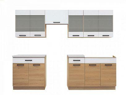 Kuchyň Semi Line 260, verze 2, dub Reveal/bílá Arktická