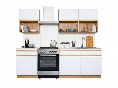 Kuchyň Semi Line 180, dub reveal/bílý lesk