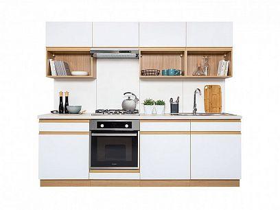Kuchyň Semi Line 240, verze A, dub reveal/bílý lesk