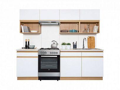 Kuchyň Semi Line 240, verze C, dub reveal/bílý lesk