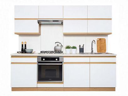 Kuchyň Semi Line 240, verze E, dub reveal/bílý lesk