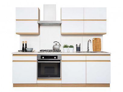 Kuchyň Semi Line 240, verze F, dub reveal/bílý lesk