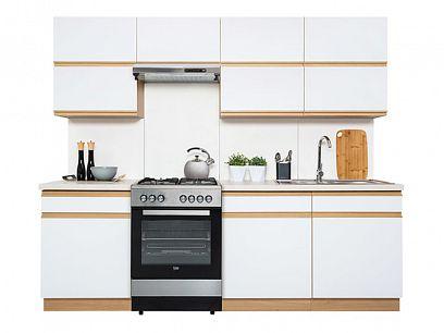 Kuchyň Semi Line 240, verze G, dub reveal/bílý lesk