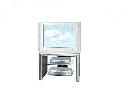 TOSCA 2 BIS Televizní stolek, stříbrný