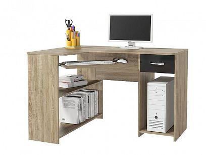 Mirelia 14 psací stůl, dub sonoma/černá