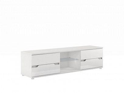 Alaska Televizní stolek P9RXAS30, bílá/bílý vysoký lesk
