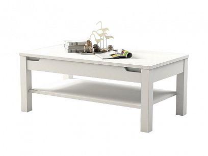 Alaska Konferenční stolek P9RXAS96, bílá/bílý vysoký lesk