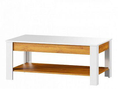 Visio 41 Konferenční stolek Bílý lesk/dub Camarque