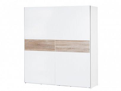 NORA 1 šatní skříň, bílá/dub sonoma