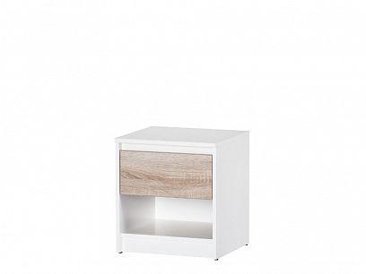 NORA 5 noční stolek, bílá/dub sonoma