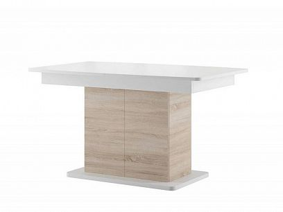 STARS 03 rozkládací jídelní stůl, bílá mat/dub sonoma