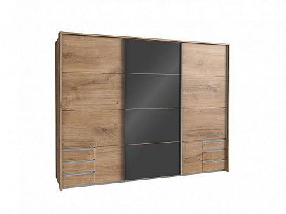 VALERIANA K99 -  637 šatní skříň, bez okrasné lišty, Dub planket