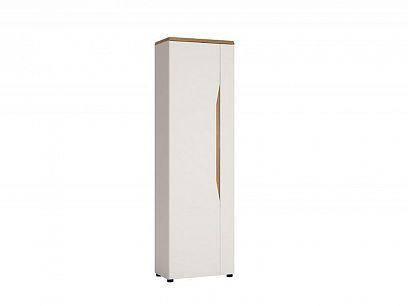 MALAGOS šatní skříň MAGS01 L, bílá lesk/dub grandson