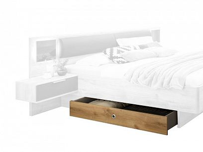 VALERIANA K99 - 288, úložný prostor pod postel 180, Dub planket