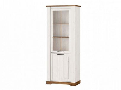 PROVANCE 10 vitrína úzká vysoká, borovice andersen/dub stirling
