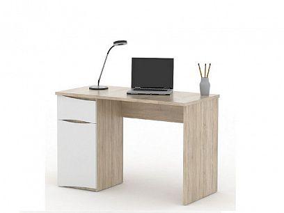 OLIN psací stůl dub sonoma/bílá
